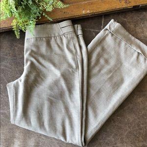 Ann Taylor wide leg beige pants, size 4P